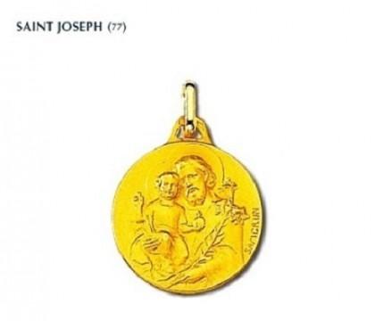 Médaille religieuse, Saint Joseph, bijoutier joaillier, Rey-Coquais, Lyon