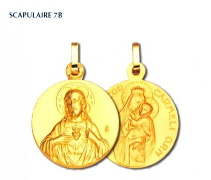 Scapulaire sans bord, médaille religieuse, or 750/1000ème, bijoutier, joaillier, Rey-Coquais, Lyon