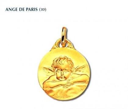 Ange de Paris, médaille religieuse, or 18 carats, bijoutier, joaillier, Rey-Coquais, Lyon