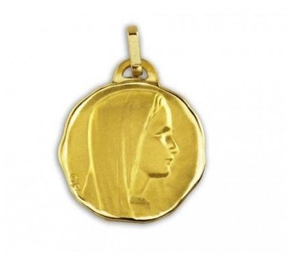 Ave Maria, médaille de baptême, médaille or jaune 18 carats, bijoutier, joaillier, Rey-Coquais, Lyon