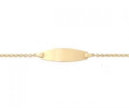 Identité bébé, or jaune 18 carats, bijoutier joaillier, Rey-Coquais Lyon