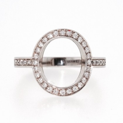 CERCEAU, bague or blanc et diamants