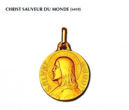 Christ Sauveur du monde, 18 carats, médaille religieuse, bijoutier, joaillier, Rey-Coquais, Lyon