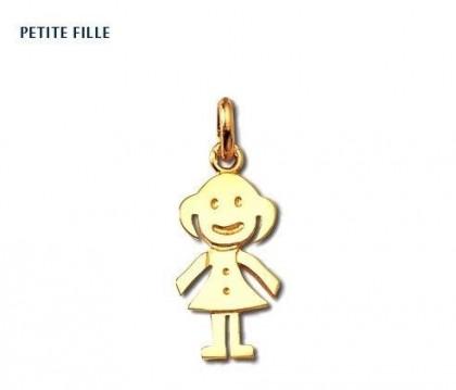 Pendentif petite fille, or jaune 18 carats, Rey-Coquais, bijoutier, joaillier, Lyon