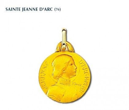 Populaire Médaille Jeanne d'Arc, or 750/1000ème, Rey-Coquais - Rey Coquais PU54