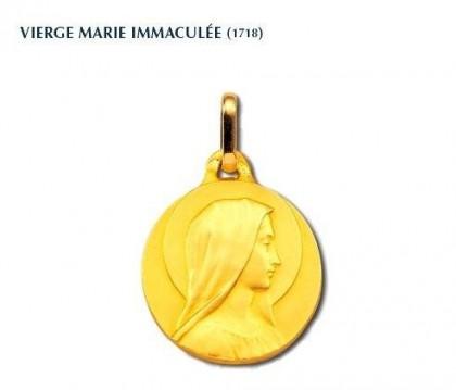 Marie Immaculée, médaille de baptême, médaille religieuse, bijoutier, joaillier, Rey-Coquais, Lyon