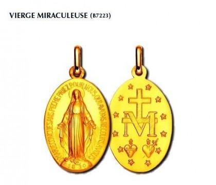 Vierge miraculeuse, or 18 carats, bijoutier joaillier, Rey-Coquais, Lyon
