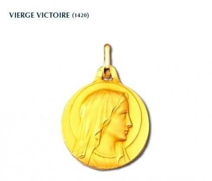 Vierge Victoire, Vierge seule, médaille or jaune 18 carats, bijoutier, joaillier, Rey-Coquais, Lyon