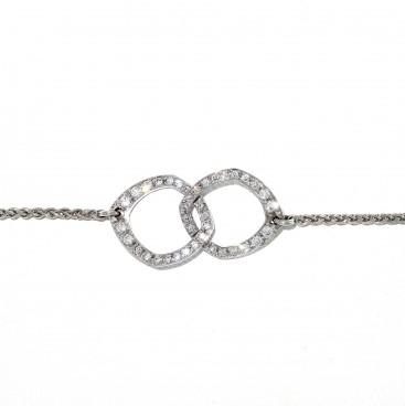 ATTACHEMENT bracelet or blanc 18 carats et diamants, bijoutier, joaillier, Rey-Coquais, Lyon
