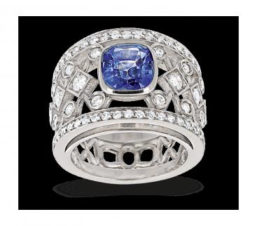 Bien-aimé Bagues or 750/1000ème, diamants, pierres précieuses, pierres fines  SL14