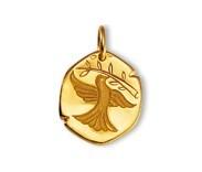 Colombe de la paix, médaille or jaune 9 carats, bijoutier, joaillier, Rey-Coquais, Lyon