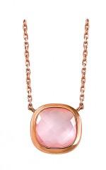 BRIOLETTE collier or rose 18 carats, pierre fine, bijoutier, joaillier, Rey-Coquais, Lyon