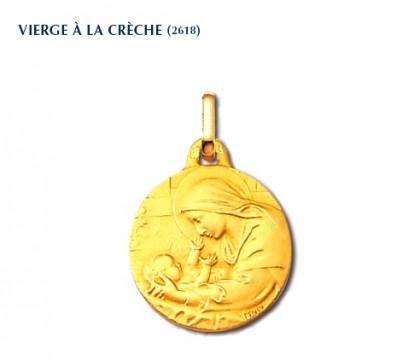 Vierge à la crèche, médaille or jaune 750/1000ème, Rey-Coquais