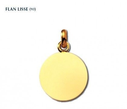 Flan lisse, or jaune 18 carats, gravure possible, Rey-Coquais, bijoutier, joaillier, Lyon