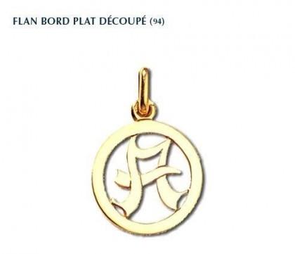 Flan bord plat découpé, or 18 carats, personnalisable, Rey-Coquais, bijoutier, joaillier, Lyon
