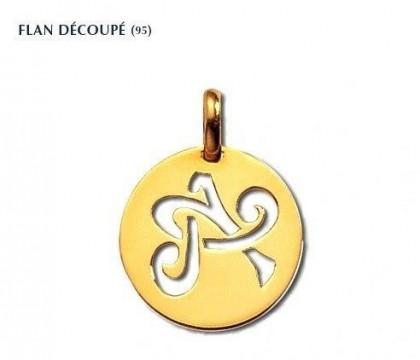 Flan découpé, or jaune 18 carats, Rey-Coquais, bijoutier, joaillier, Lyon