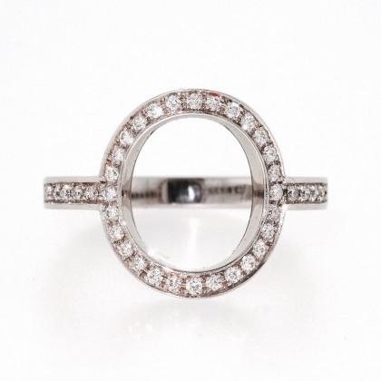 CERCEAU, bague or blanc et diamants