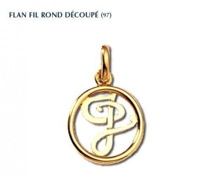 Flan fil rond découpé, or jaune 18 carats, Rey-Coquais, bijoutier, joaillier, Lyon