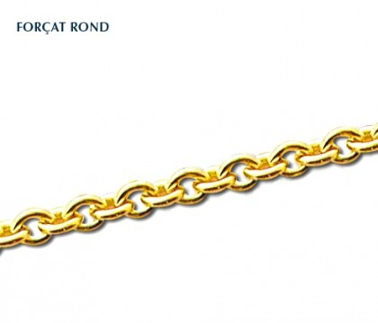 Chaîne classique, maille forçat rond, 9 carats, bijoutier, joailier, Rey-Coquais, Lyon