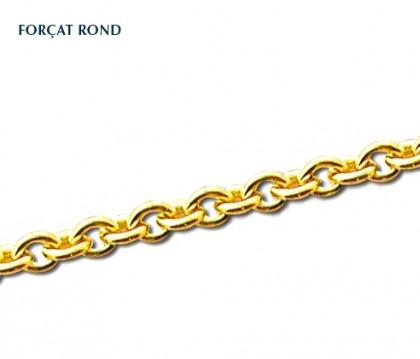 Chaîne classique, chaîne maille forçat rond, or 18 carats, bijoutier, joailier, Rey-Coquais, Lyon