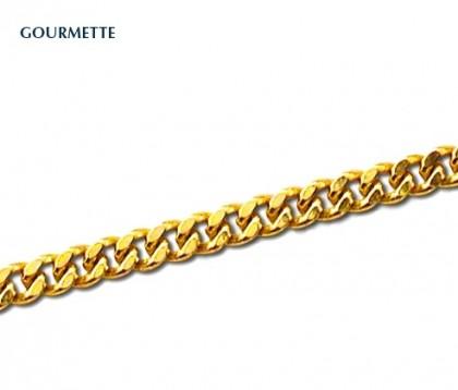 chaîne or jaune maille gourmette, bijoutier, 18 carats, joaillier, Rey-Coquais, Lyon