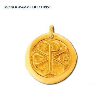 Chrisme, médaille symbolique, médaille de baptême, or 18 carats, bijoutier, joaillier, Rey-Coquais, Lyon