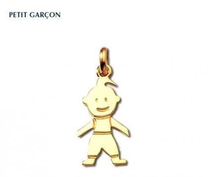 Pendentif petit garçon, or jaune 18 carats, 22 mm, Rey-Coquais, bijoutier, joaillier, Lyon