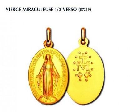 Médaille miraculeuse 1/2 verso, or 18 carats, bijoutier, joaillier, Rey-Coquais, Lyon
