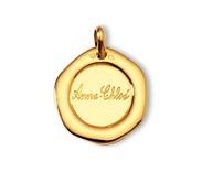 Flan cachet, or jaune 18 carats, gravure possible, Rey-Coquais, bijoutier, joaillier, Lyon