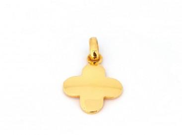 Croix fleur, or jaune 18 carats, bijoutier joaillier, Rey-Coquais, Lyon